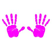 Hand Prints  Hot Pink