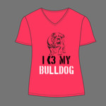 I Love My Bulldog Tee