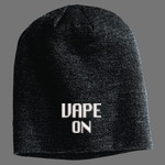Vape On Embroidered Slouchy Beanie